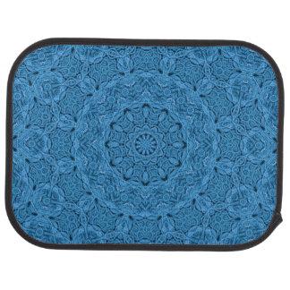 Dekorativ baksida för blåttvintage carMats Bilmatta