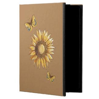 Dekorativ elegant för solros och för fjärilar powis iPad air 2 skal