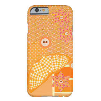 Dekorativ fruktig orange modern Patchwork Barely There iPhone 6 Skal