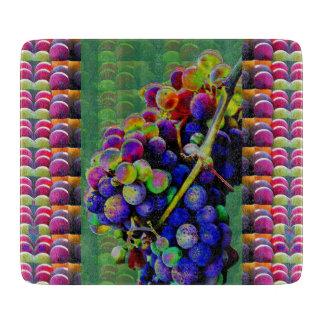 Dekorativ Glass KONST för skärbrädaDRUVANATUR