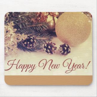 Dekorativ gott nytt år musmatta