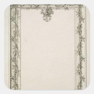 Dekorativ gräns, 1809 fyrkantigt klistermärke