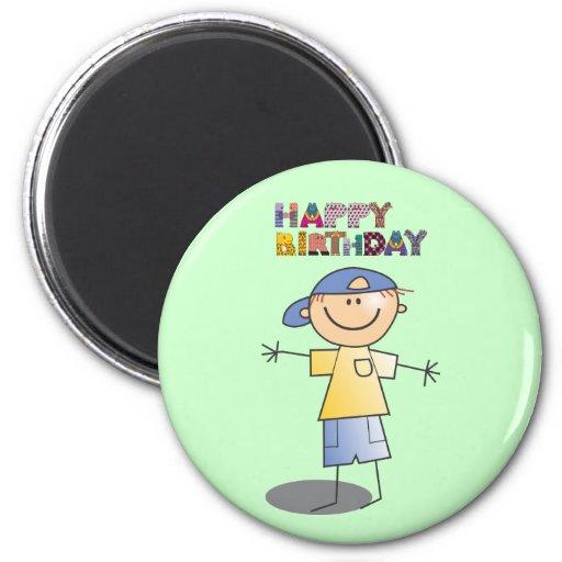 Dekorativ grattis på födelsedagen för pys magneter