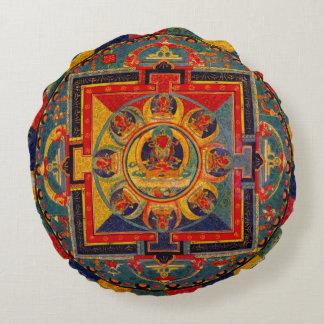Dekorativ Indie konstMandala Rund Kudde