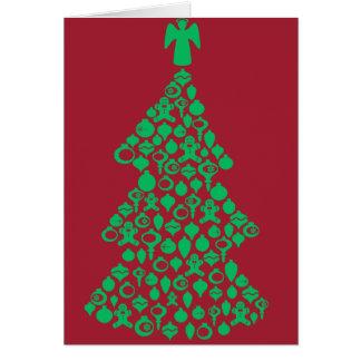 Dekorativ jul hälsningskort