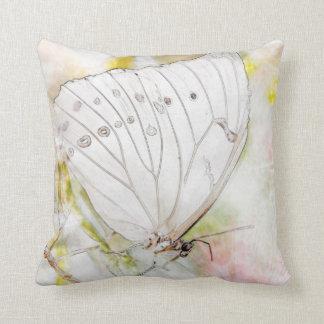 """Dekorativ kudde 16"""" för vitfjärilsvattenfärg x"""