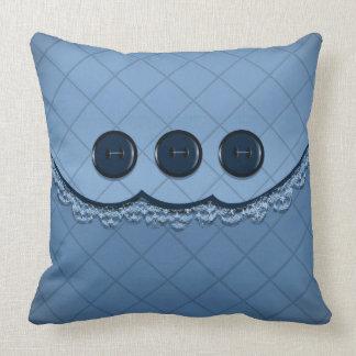 Dekorativ kudde - blått knäppas