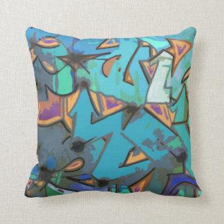 Dekorativ kudde för grafittiabstraktdesign
