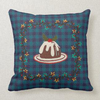 Dekorativ kudde för plumpuddingblåttpläd
