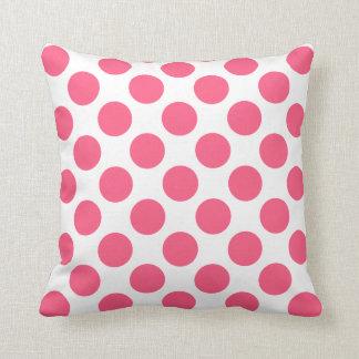 Dekorativ kudde för polka dots för anpassadevit