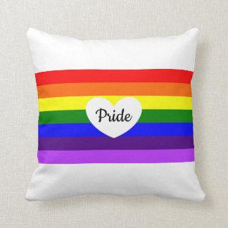 Dekorativ kudde för pride för hjärta för