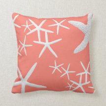 Dekorativ kudde för rosa sjöstjärna för lax dekora