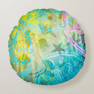 """Dekorativ kudde för runda för havssolbomull (16"""")"""