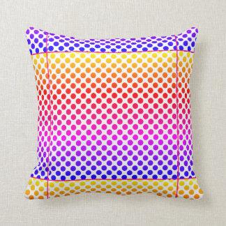Dekorativ kudde - lycklig färgrik design