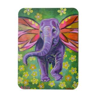Dekorativ magnet för elefantkonst