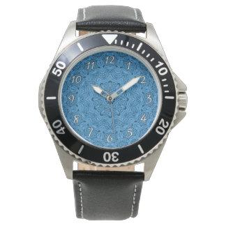 Dekorativ manar för blått   vintagevintage klocka