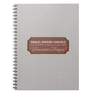 Dekorativ modern anteckningsbok för fint
