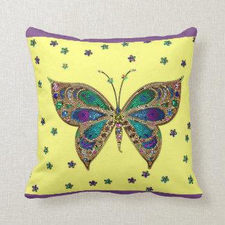 Dekorativ mosaisk fjäril och stjärnadekorativ kudde