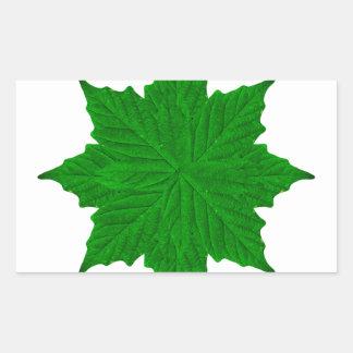 Dekorativ prydnad isolerade växter rektangulärt klistermärke