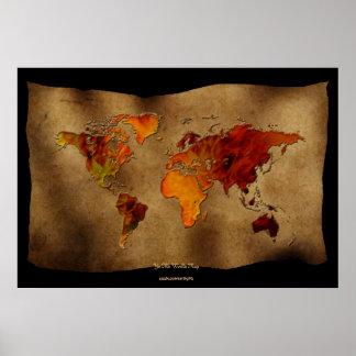 """Dekorativ roligt för karta"""" konst """"för Ye Olde Poster"""