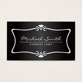 Dekorativ svart för yrkesmässig elegant vintage visitkort
