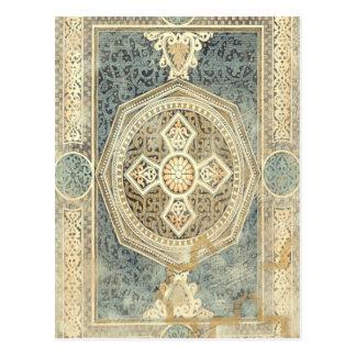 Dekorativ Tapestry med utsmyckad geometrisk design Vykort