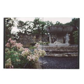 Dekorativ trädgård, ro och en fontän powis iPad air 2 skal
