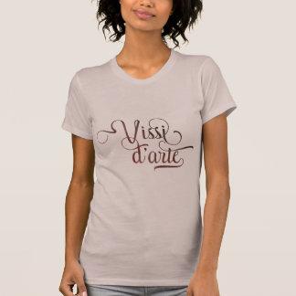 Dekorativ typografisk ljus skjorta för Vissi Tröja