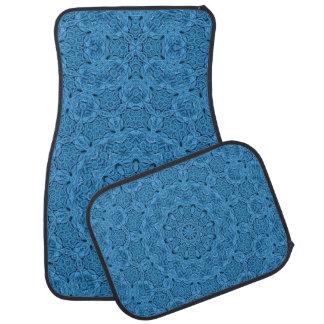 Dekorativ uppsättning för blåttvintage carMats av Bilmatta
