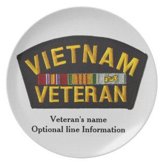 Dekorativ Vietnam veteran - plätera Tallrik