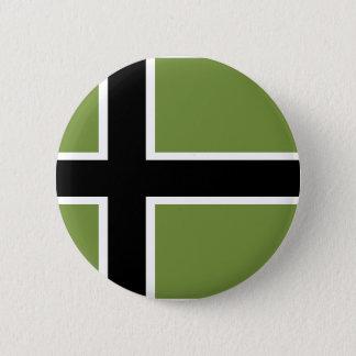 Dekorativ Vinland flagga - klämma fast Standard Knapp Rund 5.7 Cm
