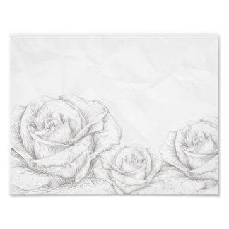 Dekorativa blom- grå färg för vintagero fototryck