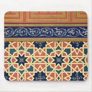 Dekorativa designer för arabiska (färglithoen) musmatta