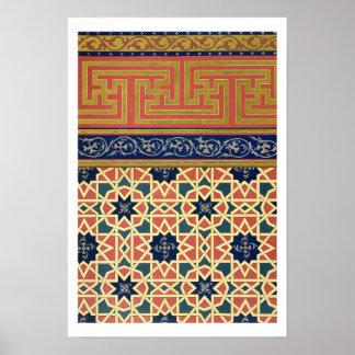 Dekorativa designer för arabiska (färglithoen) poster
