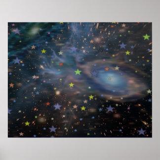 dekorativa galaxstjärnor poster