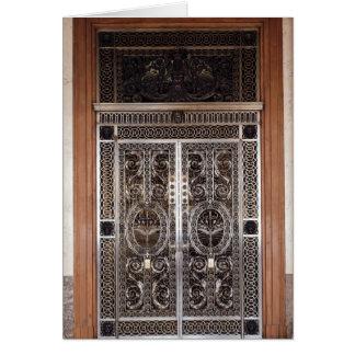 Dekorativa grindar av Galerie d'Apollon in Hälsningskort