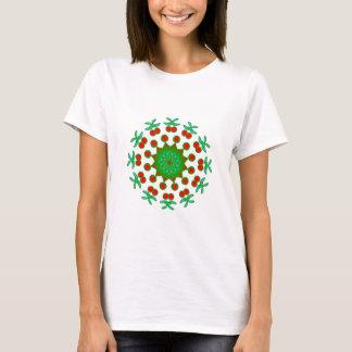 Dekorativa röda och gröna produkter t shirt