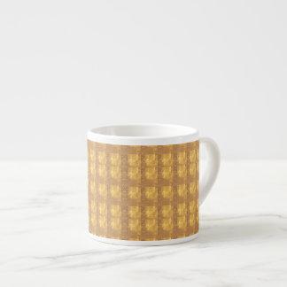 Dekorativa strukturer som mönster skuggar, espressomugg