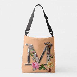 """Dekorativt brev initialt """"M"""", Axelväska"""