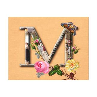 "Dekorativt brev initialt ""M"", Canvastryck"