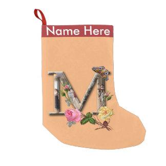 "Dekorativt brev initialt ""M"", Liten Julstrumpa"