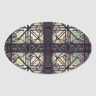 Dekorativt dekorativt ovalt klistermärke