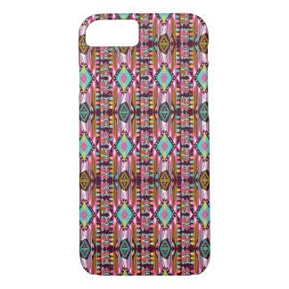 Dekorativt färgrikt mönster i aztec stil