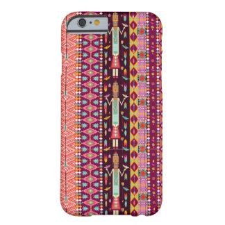 Dekorativt färgrikt mönster i aztec stil barely there iPhone 6 fodral