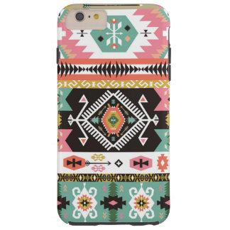 Dekorativt färgrikt mönster i aztec stil tough iPhone 6 plus fodral