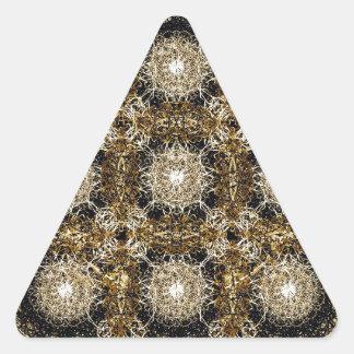 Dekorativt förädlat mönster triangelformat klistermärke