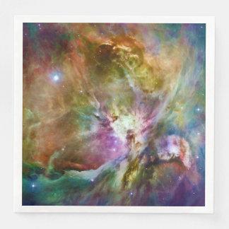 Dekorativt foto för utrymme för Orion Nebulagalax Servett