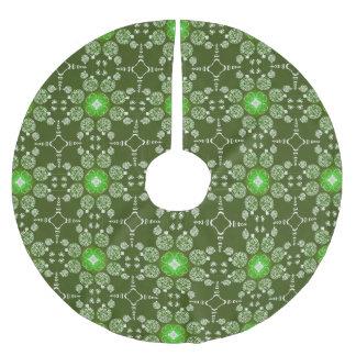 Dekorativt julstjärnamönster för grön jul julgransmatta borstad polyester