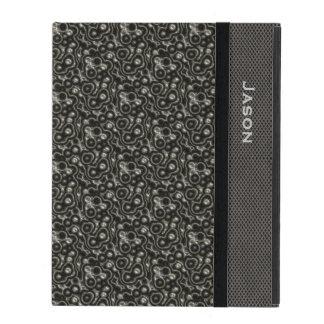 Dekorativt metalliskt LookiPadfodral iPad Skal