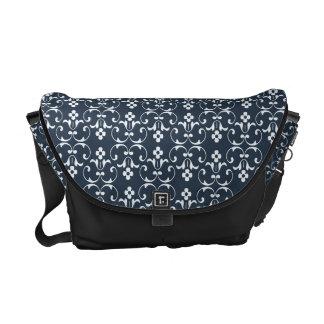 Dekorativt mönster för blått kurir väskor
